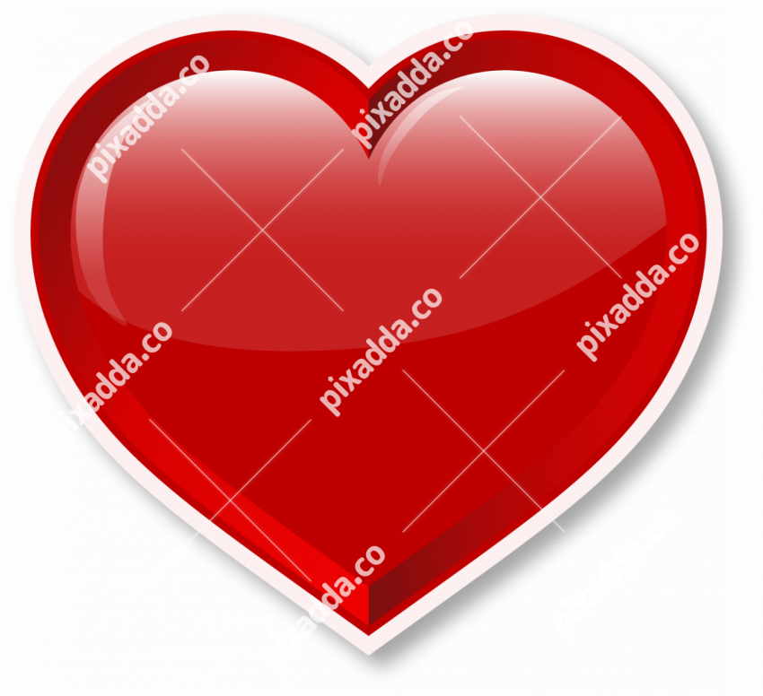 Heart Valentines red colour png
