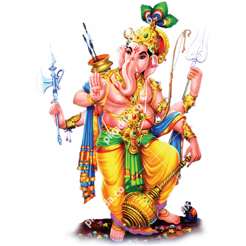 ganesh with four hands