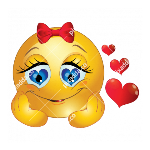Emoticon She Is In Love
