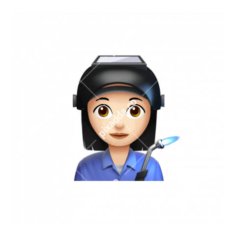 Female Factory Worker Apple Emoji PNG transparent