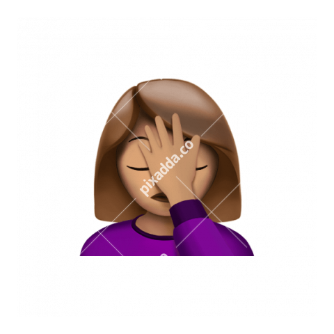 Facepalm Apple Emoji PNG transparent
