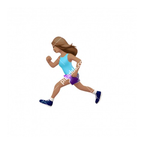 Female Runner Apple Emoji PNG transparent