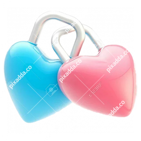 Two Hearts Transparent Background