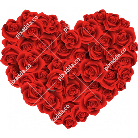 Rose Heart Transparent Background