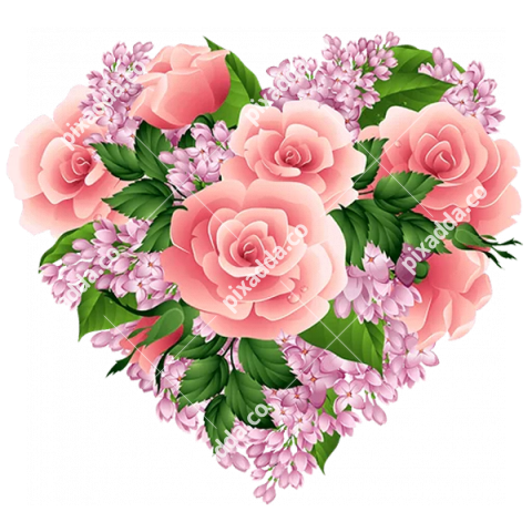 Rose Heart PNG Transparent Picture