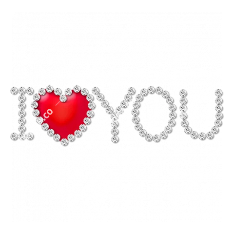 I Love You Word PNG Picture