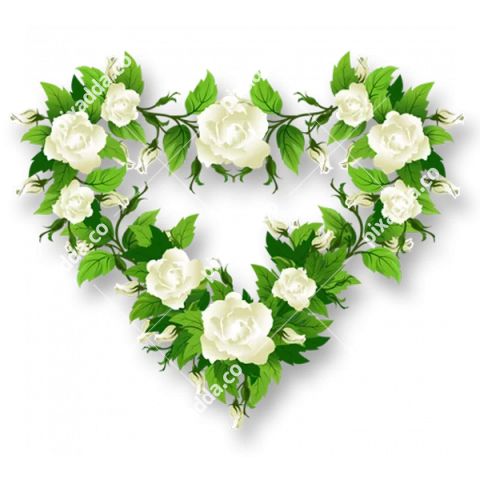 Rose Heart PNG Transparent Image