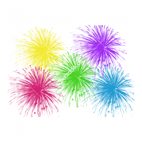different colour fireworks transparent png