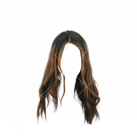 Straight Girl Hair PNG Transparent HD Image
