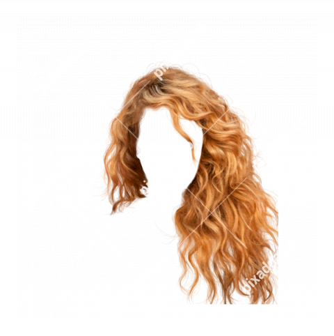 Girl Golden Hair PNG Transparent image
