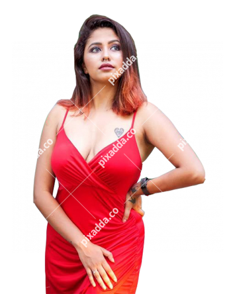 indian model girls png in red dress