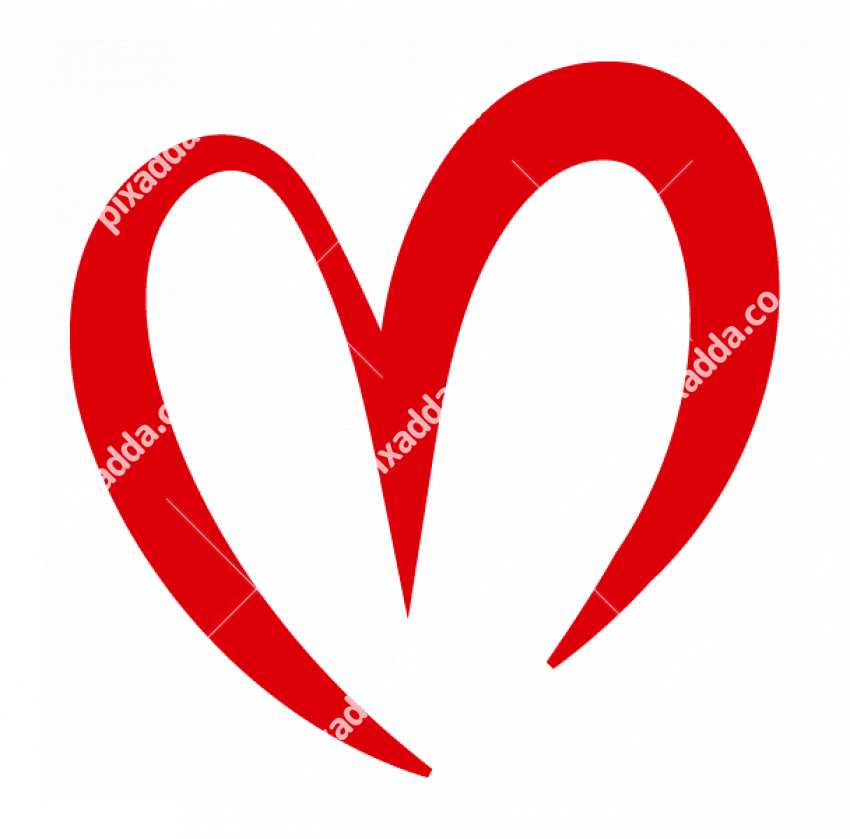 curved red heart outline PNG (2)