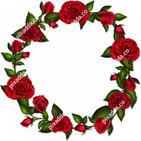 Round Floral PNG High Quality Image