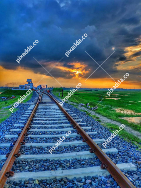 Railway Track CB Picsart Photo Editing Background
