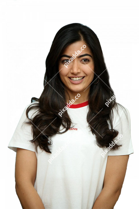cute rashmika mandanna png transparent hd