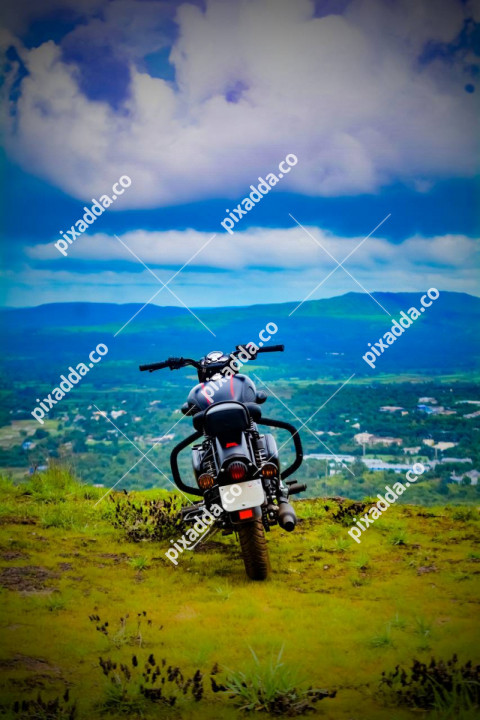 Bike and Mountain CB Picsart Photo Editing Background