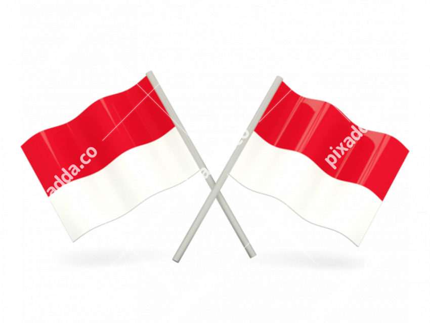 Monaco Flag Transparent