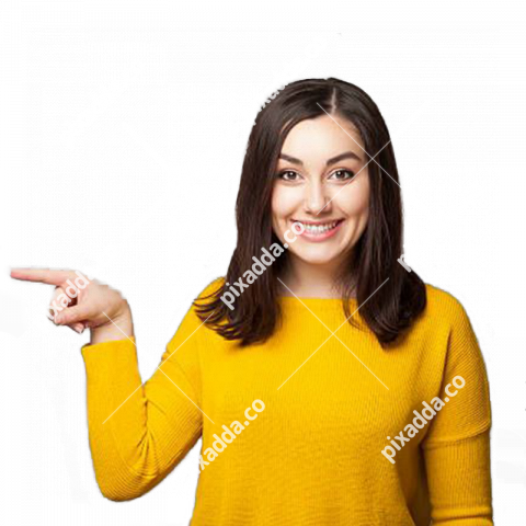 girl pointing left hd png