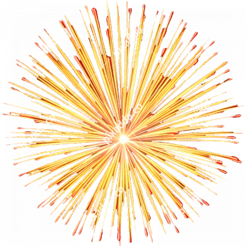 golden fireworks transparent image