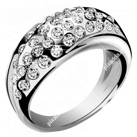 Silver Ring Transparent Background
