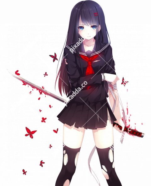 Vampire Anime Girl PNG Transparent