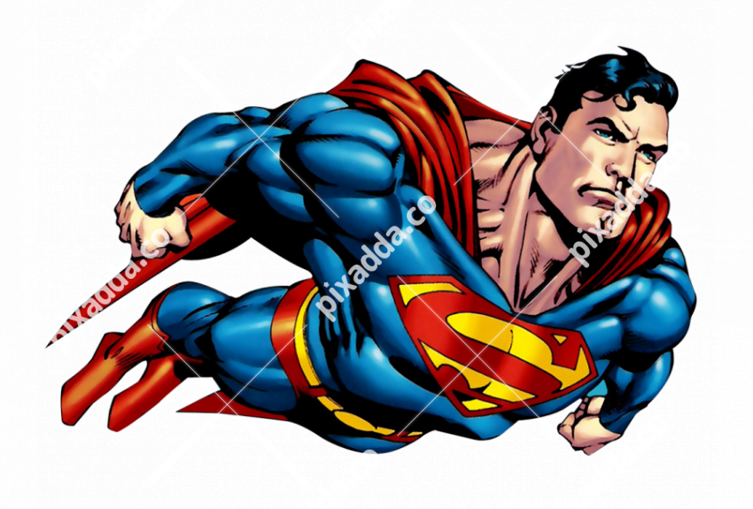 Superman Cartoon PNG Transparent Image