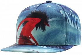 blue printed cap png transparent image