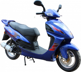 blue scooter scooty