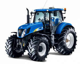 blue tractor