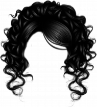 Curly Girl Hair PNG transparent image