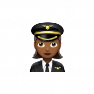 Female Pilot Apple Emoji PNG transparent