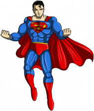Flying Hero Transparent PNG