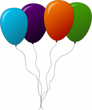 four balloons png transparent image