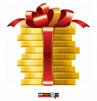Gift pack Gold Coin PNG