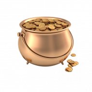 gold coin in pot png transparent image