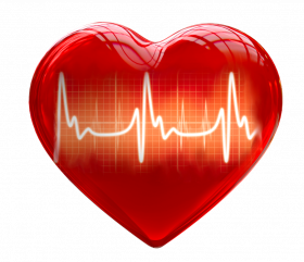 Heart 3d for medical use png