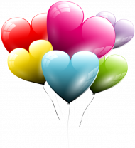 heart balloons png transparent image
