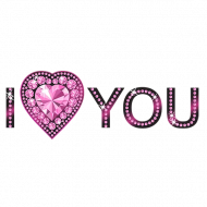 I Love You Word PNG File