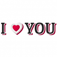 I Love You Word PNG Image