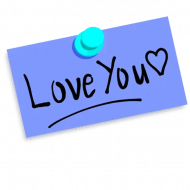 I Love You Word PNG Transparent Image