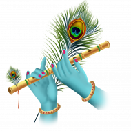 Krishan Hand with Flute PNG
