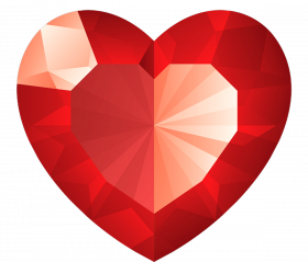 red diamond heart png transparent image