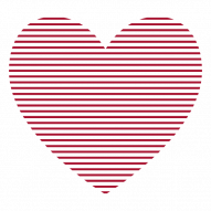 red heart lines PNG images with transparent background