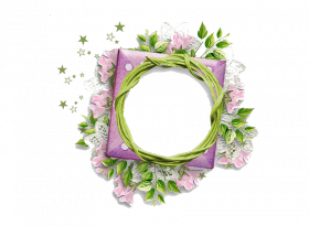 Round Floral Png