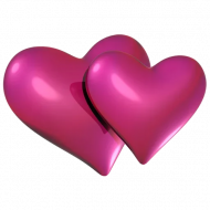 Two Hearts PNG HD