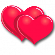 Two Hearts PNG Picture