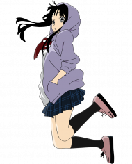Vector School Anime Girl Transparent Background