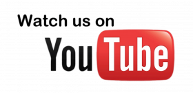 Watch us on YouTube Logo transparent PNG